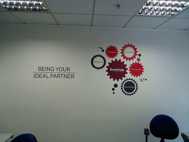 Adesivos de parede corporativos