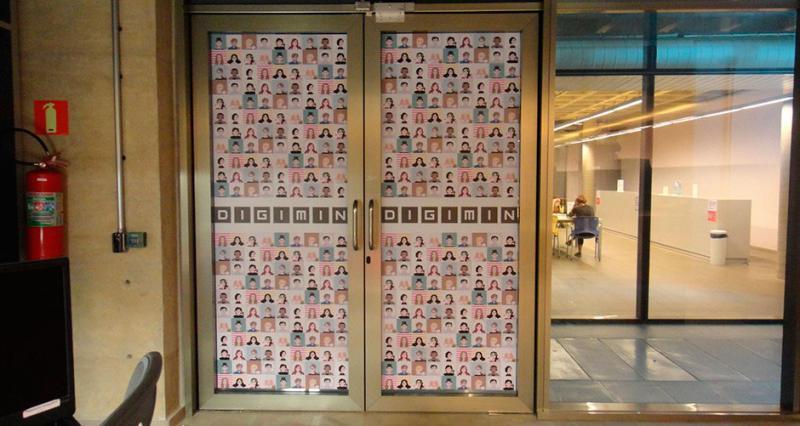 Adesivos para porta de vidro personalizados