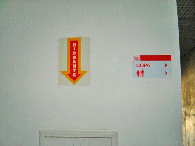 Placas de sinalização de emergência fotoluminescente