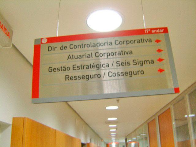 Placas de sinalização indicativas