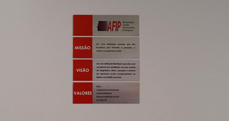 Placas de sinalização informativas