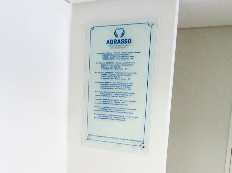Placas de vidro personalizadas